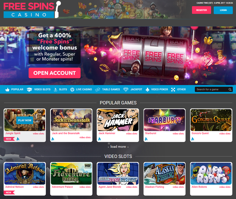 Casino Online Free Spins